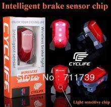 New! charging type brake bicycle Brake light laser tail lights bicycle parallel type laser LED warning light – Free Shipping