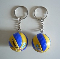 M-I-K-A-S-A !Top beach volleyball PVC 3.7 cm keychain key ring business gifts 5pcs/lot