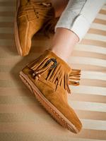 Koolaburra fashion tassel boots flat heel shoes genuine leather women's shoes single shoes women's shoes