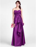 A-line Sweetheart Floor-length Satin Bridesmaid Dresses
