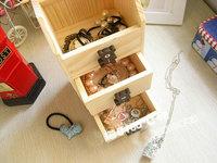 Free shipping Teddy Bear house models jewelry box / Wooden desktop sorting box  D209
