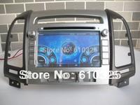 Free Shipping 7 Inch Car Radio Audio DVD Player GPS For HYUNDAI SANTA FE Inokom Santa Fe 2007~2012 Retail/PC