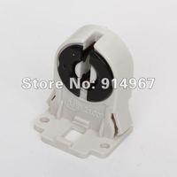 Free shipping, plastic AC100-250V 50/60Hz T8 Fluorescent Light Socket black and white Lamp Holder