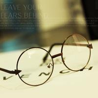 Korean vintage European and American classic retro big round glasses Prince arrow metal frame mirror frame