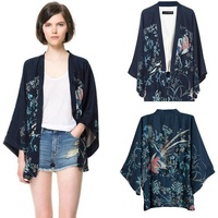 2014 Summer new Europe fashion brand quality Clothing kimono jackets coats women plus size