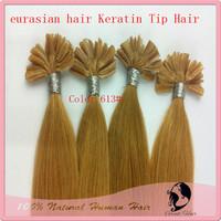 Bleach blonde eurasian hair, Keratin Nail Stick Nail Tip Virgin hair Remy Human Hair  accessories 100s/pack Color613# ,6#,8#more