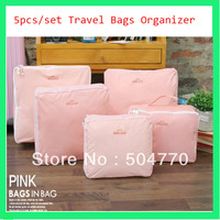 6sets/lot travel bags in bag trip luggage organizer bag nylon organizer mesh bags  B9000