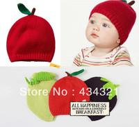 2014 autumn winter fashion children baby knitted hat 100% cotton fashion style hiqh quality newborn hat boy girl free shipping