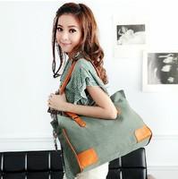 Free shipping 2013 new style Fashion  Korea style canvas handbag for women big bag
