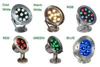 6W/12W/18W/24W/30W/36W Red Green Blue IP68 CREE LED Underwater Aquarium Pool Fish Tank RGB Spot light lamp 12V AC DC