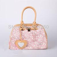 Spring gift items Sweet Floral Hello Kitty Handbag For Women Cartoon Totes High Quality Small Size Handbag Free Shipping