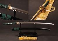 Full Tang 1095 High Carbon Steel Clay Tempered Samurai Sword Katana Can Cut Tree * ESC105