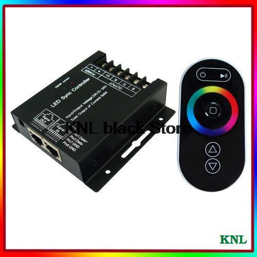 DC12-24V Led RGB touch controller wireless RF remote control, wall-mounted RGB controller box 3 channels for led strip 5050/3528(China (Mainland))