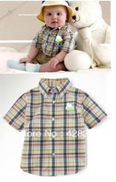 Freeshipping! Factory outlets discount! Wholesale New 2014 BabyBurberry shirts+long jeans 2pcs Casual Sets. 3 Colors choose