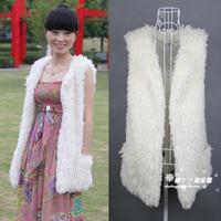Berber fleece vest fur coat berber fleece outerwear medium-long vest