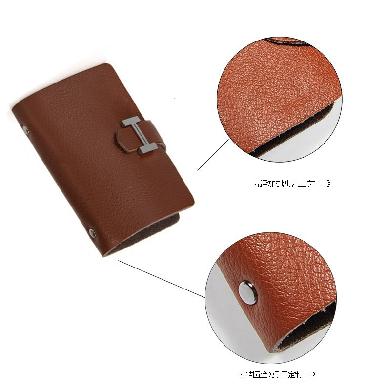 New Arrival Fashion Woman Man Genuine Cowhide Leather Card Holder Wallet High Quality Promotion Free Shipping Special Hasp(China (Mainland))