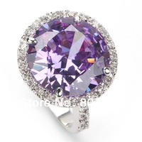 Casual Amethyst Cubic Zirconia fashion 925 Silver RING Trendy R482 sz#6 7 8 9