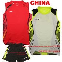 2013 BWF World Championships Cup LI-NING CHINA'S National Team badminton shirt Men/ LIN DAN shirt / Badminton clothes