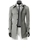 2014 winter UK style short trench coat mens casual windbreaker fashion jacket men's windcoat outwear(China (Mainland))