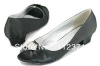 Designer wedding Pumps bridal shoe silver or white black size up to 42