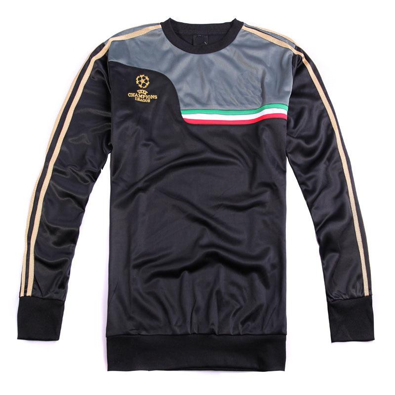 AC Milan 2015 Football Shirt Champions Jersey Long Sleeve Soccer Training Jackets Uniforms Free Shipping(China (Mainland))