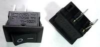 100pcs/lot  Rocker switch 10 15mm black 2 power switch copper feet