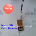 Metal Micro SD Card Reader High speed USB 2.0 Micro SD Card Reader, Mini SD Card Reader ,SD/M2/MS Duo Card Reader,Free Shipping