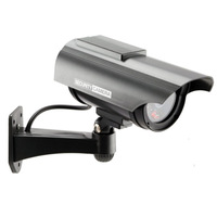 Newest Indoor Outdoor Solar Powered Fake Dummy Security Camera with LED Light Waterproof Free Shipping wholesale