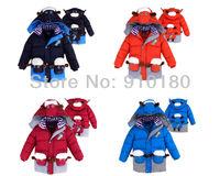 Free shipping 3pcs/lot kids winter cartoon design boys Outdoor Windproof down Jacket cotton padded outerwear
