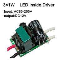 Free shipping 3X1W led inside driver lamp driver AC85-265V isolated LED power supply input for E27 GU10 E14 LED lamp spotlight#