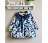 2014 New Girls Outerwear Beautiful Children Hoodies Kids Jackets & Coats Baby Girl Spring Autumn Flower  jacket girls kids