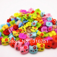 Free Shipping 200pcs mixed plastic Hello Kitty pattern cartoons sewing cloth kids button clothes findings(w02203)