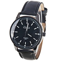 Luminous pointer vintage male watch trend style leather male watch  Relogio