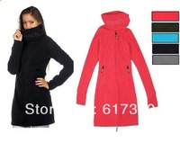 Fashion New Bench Women Long Funnel Neck Jacket Fleece Jacket Bench Coat