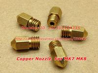 5pcs/lot 3D Printer  Nozzle for Makerbot MK7 MK8 0.4mm  length13mm  MK8 3D Printer Head