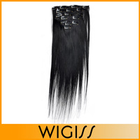 7pcs/set WIGISS Remy  clip in hair Human hair products straight brazilian virgin hair extensions H7001AZ Bshow