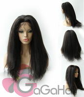 Wholesale Brazilian Remy Virgin Lace Front Wigs Glueless Kinky Straight Human Hair Off Black Color In Stock Free Fast Shipping