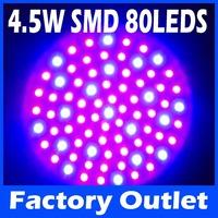 E27 4.5W Red Blue SMD 80 LEDs Hydroponic Plant Grow Growth LED Light Bulb AC220V