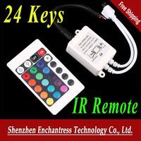 FreeShipping 6PCS/LOT 12V 24 Keys IR Remote Controller for SMD 3528 5050 RGB LED SMD Strip Lights