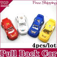 4pcs / lot New Mini Pull Back Car Vehicle Toys For Children Baby Kids Green Blue White Yellow Size 9.5*4.5*3.5cm Christmas Gift