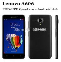 "Original 4G FDD LTE phones Lenovo A606 5.0"" IPS  512M RAM 4G ROM Andorid 4.4 MTK6582 Quad Core 3G WCDMA unlocked cell Phones"