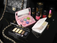 Free shipping 1PCS Fashion Gift Make up Crystal Box Design Crystal Bling Case for iPhone 5 5S 5G 4 Cosmetic Container Support