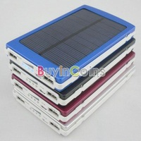 New Solar Power Panel Dual USB External Mobile Battery Charger 10000mAh Power Bank  #47072