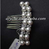 10180 Wholesale New 2014 Fashion Woman's Girl's Pearl Rhinestone Jewelry Hair Combs And Bridal Wedding Hair Accessories