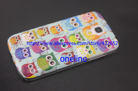 Popular Cute Cartoon Multiple Owl Skin Hard Back Cover Case for Samsung Galaxy S4 s 4 mini i9190 S4mini,1pc by China Post