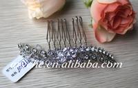 10186 Wholesale New 2014 Fashion Mini Wedding Crystal Rhinestone Jewelry Hair Comb Silver Jewelry Hair Accessories