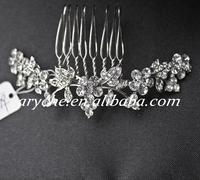 10179 Hot New Fashion Crystal Rhinestone Wedding Bridal Jewelry Hair Combs Woman's Girl's Headdress