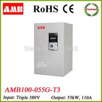 220v 380v converter AMB100-055G-T3 elevator frequency inverter 55kw