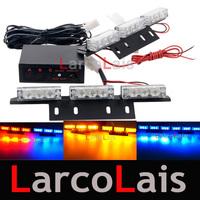 2x9 LED Strobe Flash Warning EMS Police Car Light Flashing Emergency Firemen Lamp 2x9 White Blue Amber Red Green