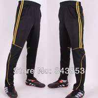 New warm kid/Youth/men Soccer Training Pants size 3XS-4XLselect (refer the chart) yellow line